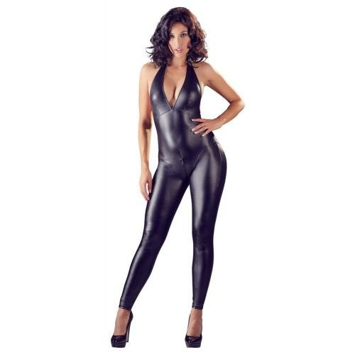 Cottelli Collection Sexy crotchless Wetlook Catsuit