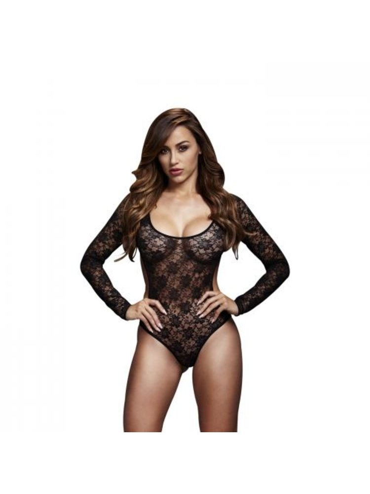 Baci Lingerie Baci - Spitzen-Bodysuit mit offenem Rücken - Schwarz