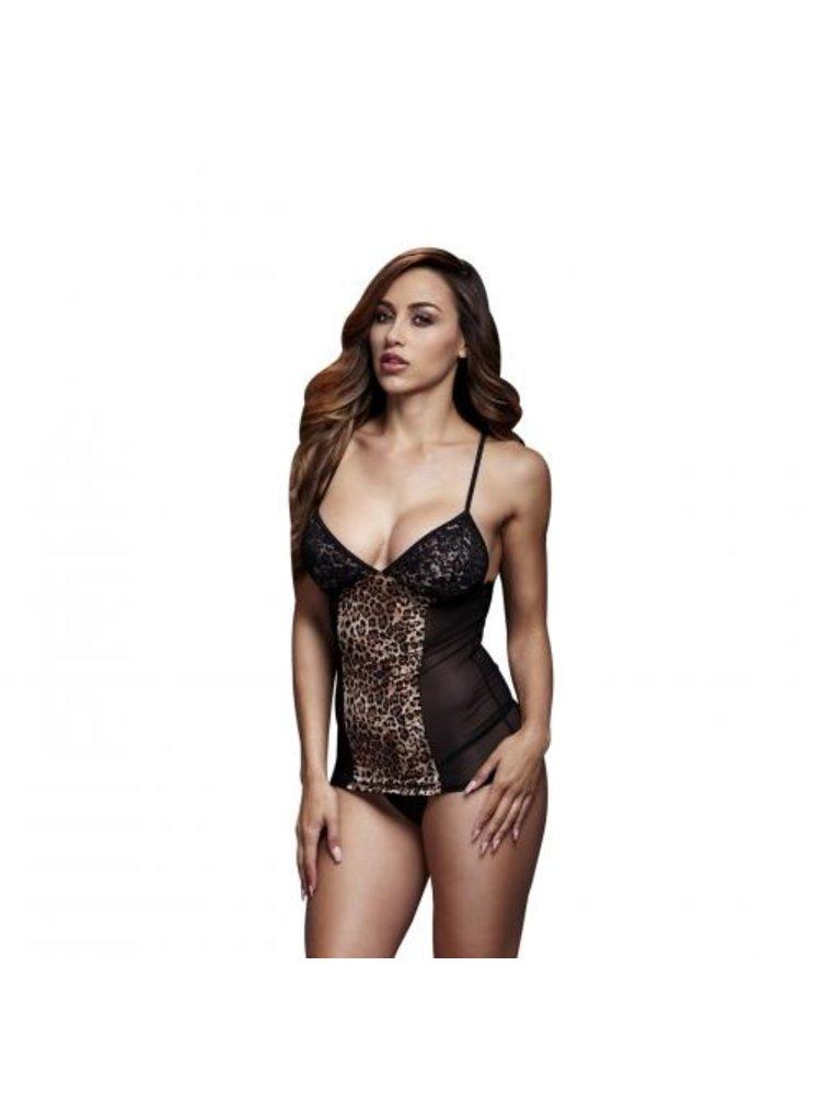 Baci Lingerie Baci - Sexy Oberteil mit Spitzenkörbchen und Leoparddruck