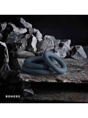 Boners Boners 3-teiliges Penisring Set - grau