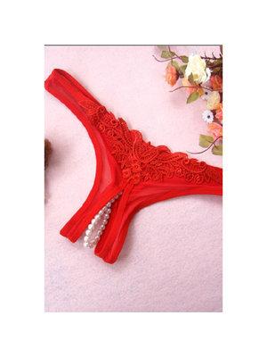 Sexy Kleidung Rote string mit Perln