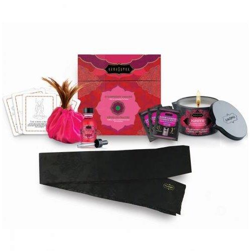KamaSutra Kamasutra Schatztruhe Massage-Set mit Erdbeere