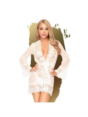 Penthouse Penthouse Lingerie - Hypnotic Power Kimono mit Tanga - Weiß