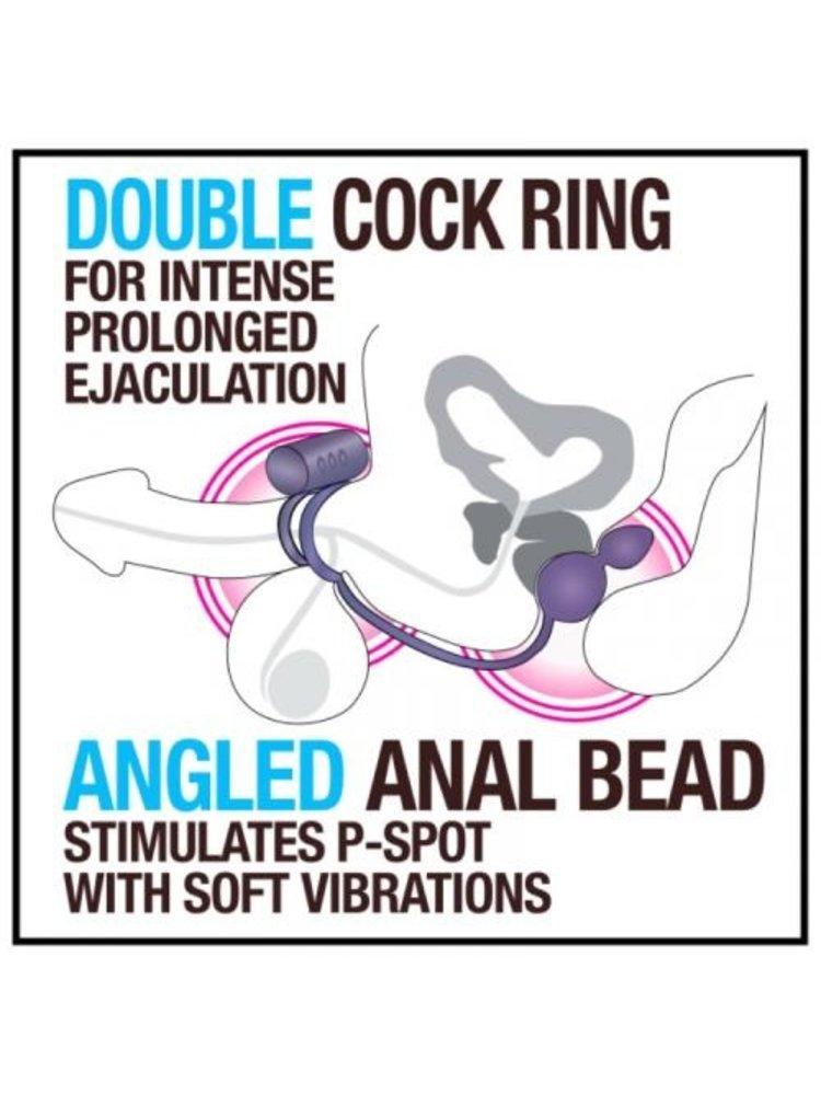 Anal Adventures Anal Adventures Platinum Analplug mit vibrierendem Penisring