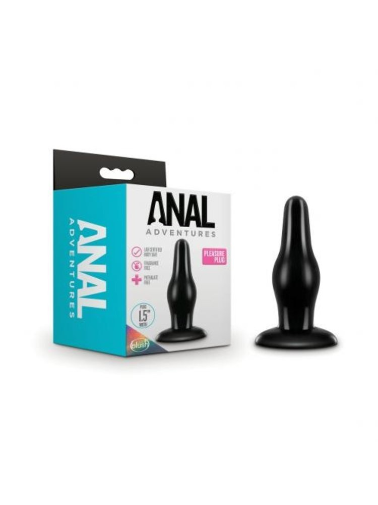 Anal Adventures Anal Adventures - Pleasure Plug - Schwarz