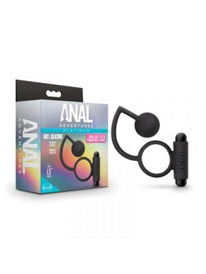 Anal Adventures Anal Adventures- Platinum - Analkugel mit vibrierendem Penisring