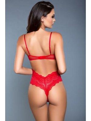 Be Wicked Ariella Spitzen-Bodysuit - Rot