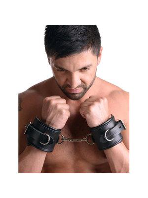 Strict Leather Gefütterte Handfesseln aus Leder