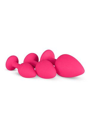Easytoys Anal Collection Analplug aus Silikon mit Diamant - pink