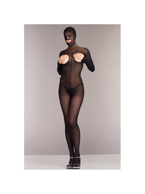 Be Wicked Ouvert Catsuit ohne Cups mit Kapuze