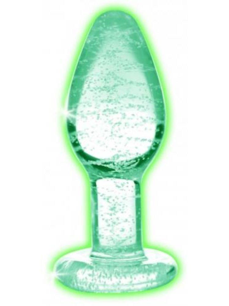 Booty Sparks Glow-In-The-Dark Glas-Analplug - Groß