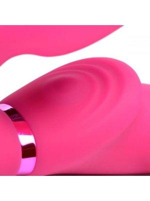 Strap U G-Pulse Vibrierender halterloser Dildo mit Fernbedienung - Rosa