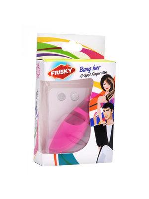 Frisky G-Punkt Fingervibrator aus Silikon in Pink