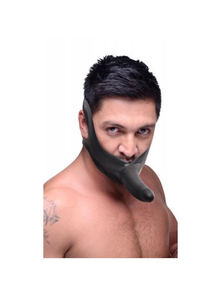 Master Series Face Fuk Mundknebel mit Dildo