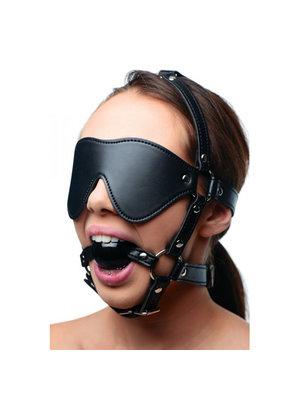 Strict Kopfgeschirr mit Augenbinde und Ballknebel