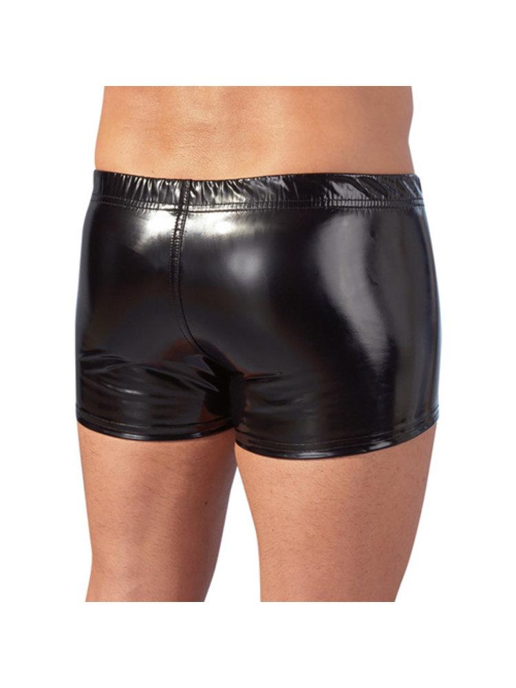 Black Level Lack-Pants mit Reißverschluss