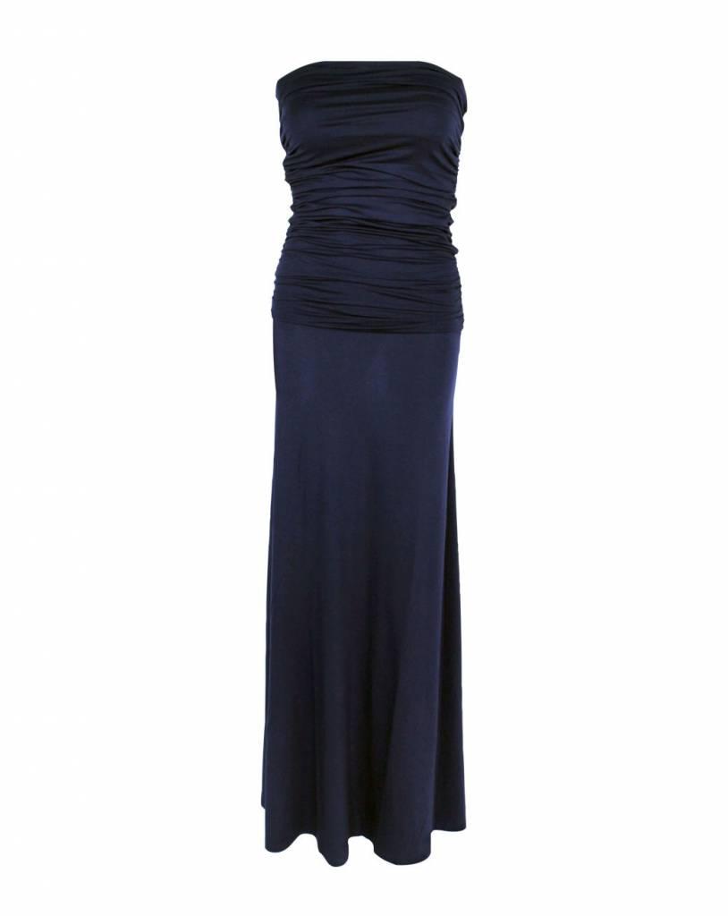lange jurk donkerblauw