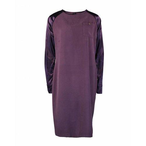 Longlady Longlady Dress Eliena Aubergine