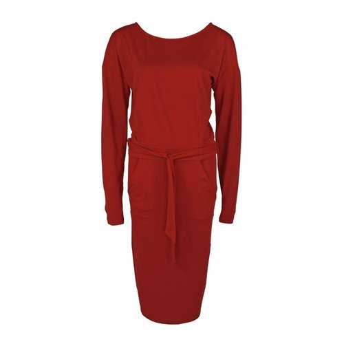 Longlady Longlady Dress Estelle Darkred