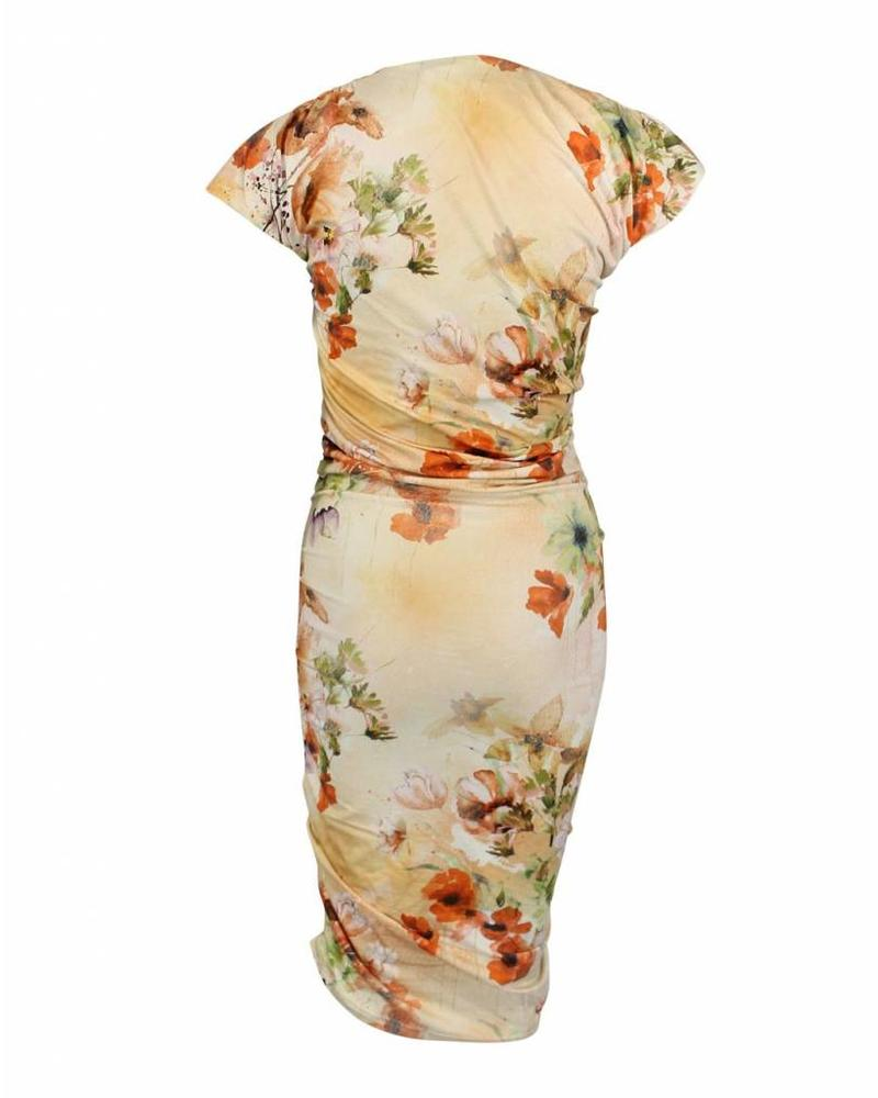 Longlady Dress Jannette Yellow Flower