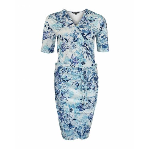 Longlady Longlady Dress Editha Blue Flower