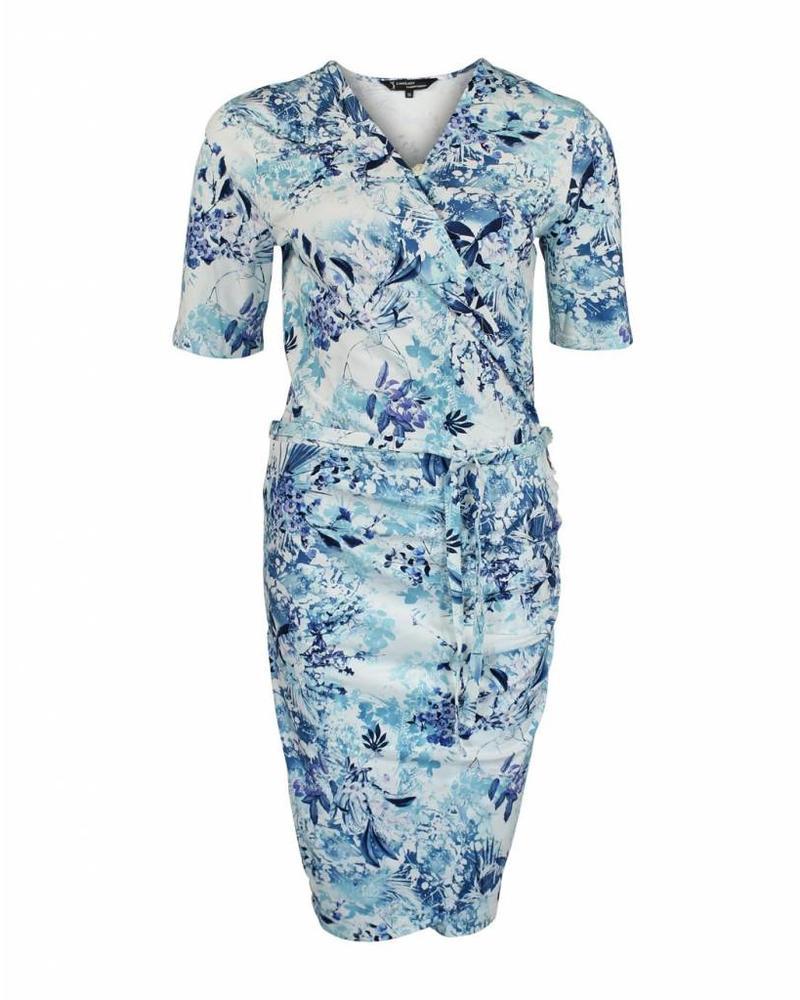 Longlady Dress Editha Blue Flower
