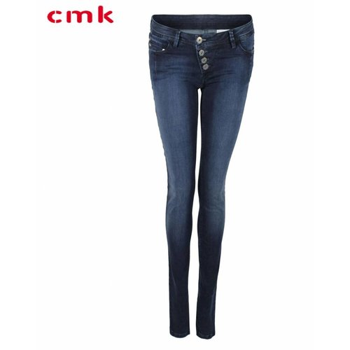 CMK CMK Jeans Suzy Button Blue