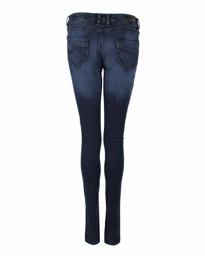CMK Jeans Suzy Button Blauw