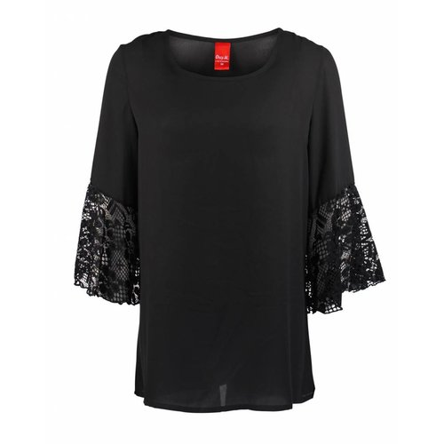 Only-M Only-M Blouse Kant Nero