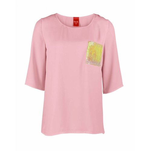 Only-M Only-M Shirt Crepon Rosa
