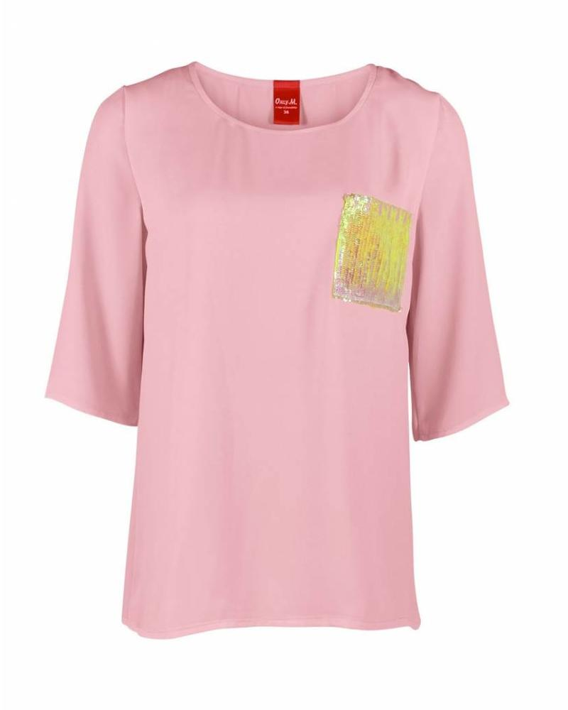 Only-M Shirt Crepon Rosa