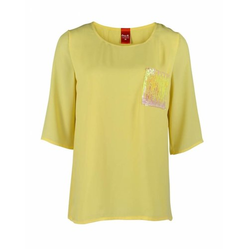 Only-M Only-M Shirt Crepon Giallo