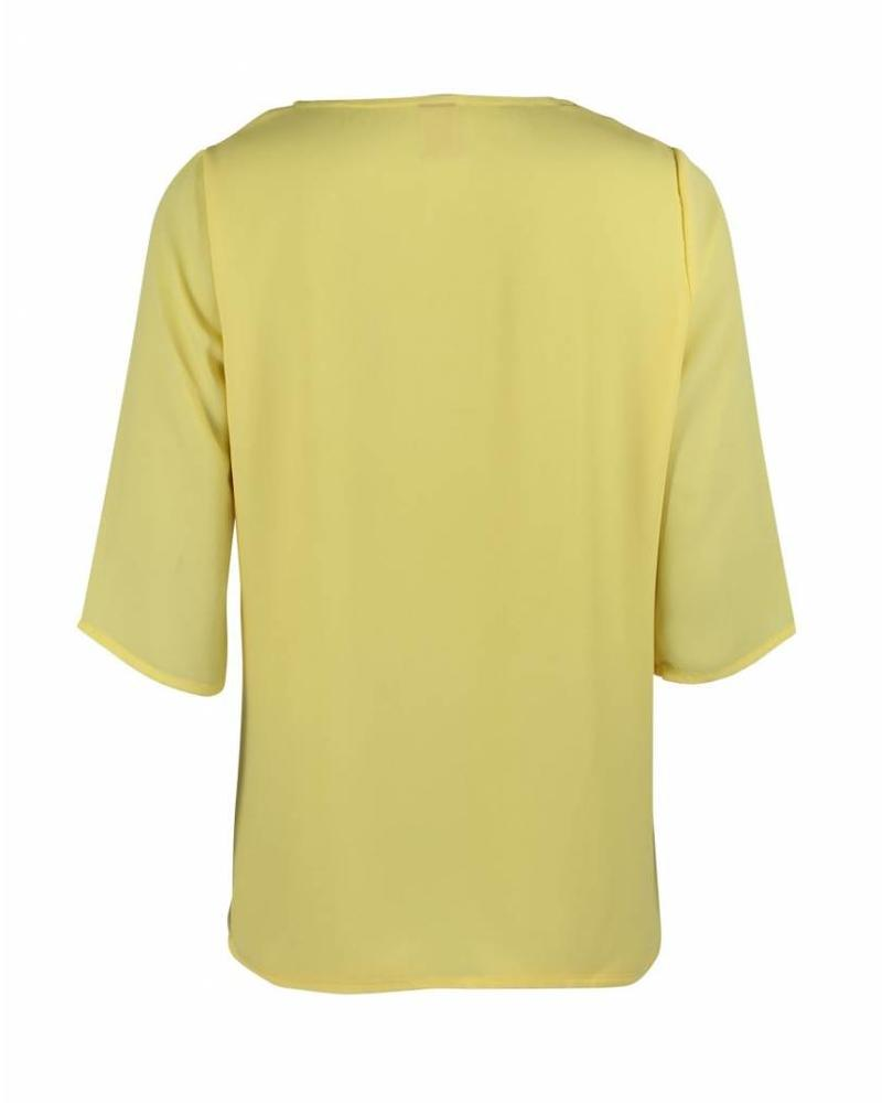 Only-M Shirt Crepon Giallo