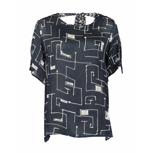 Only-M Only-M Blouse Bow Quadro