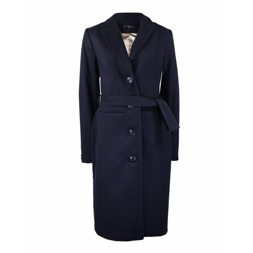 Longlady Longlady Coat Mira Darkblue