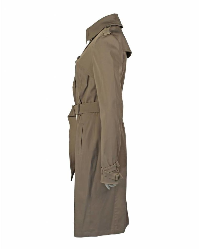 Longlady Coat Manja Darktaupe