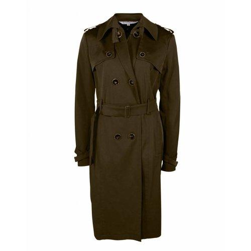 Longlady Longlady Coat Manja Darkbrown