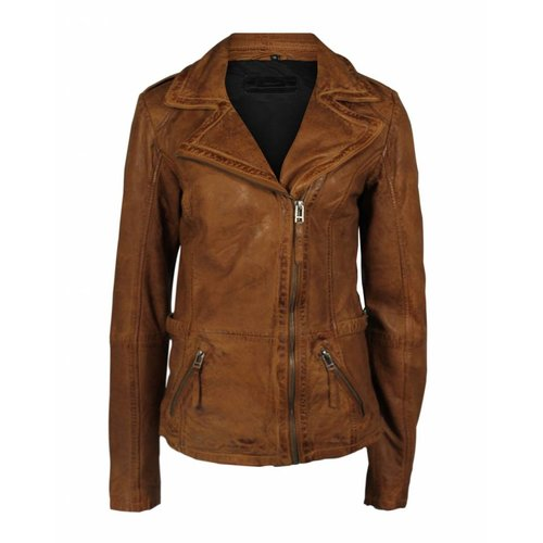 Deercraft Deercraft Bikerjacket Leather Cognac