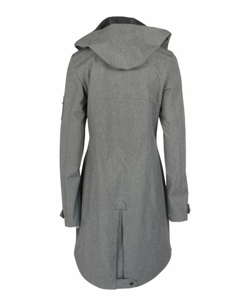 Longlady Softshell Coat Grey Mellee