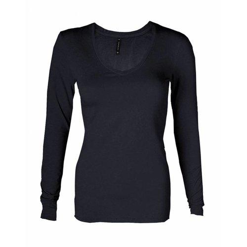 Longlady Longlady T-shirt Tanja Donkerblauw