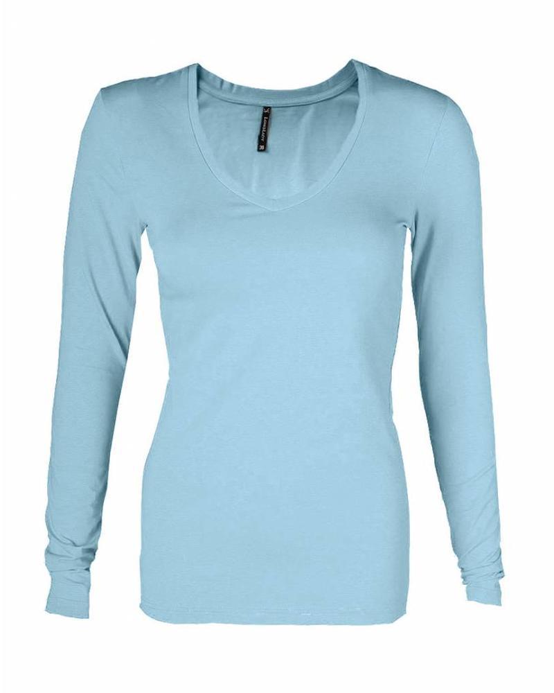 Longlady T-shirt Tanja Lightblue