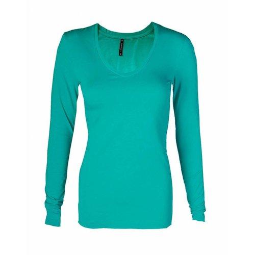 Longlady Longlady Shirt Tanja Emerald