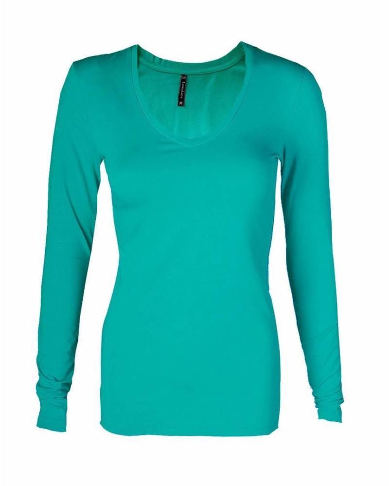 Longlady Shirt Tanja Emerald