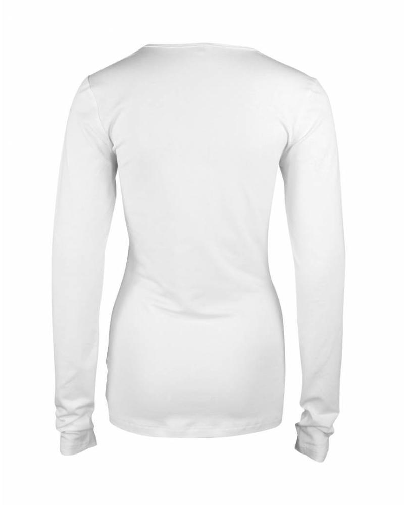 Longlady Shirt Tamilia Wit