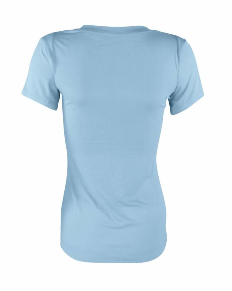 Longlady Shirt Tiny Lichtblauw