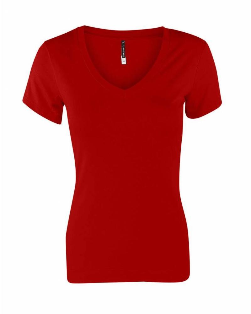 Longlady Shirt Tiny Rood