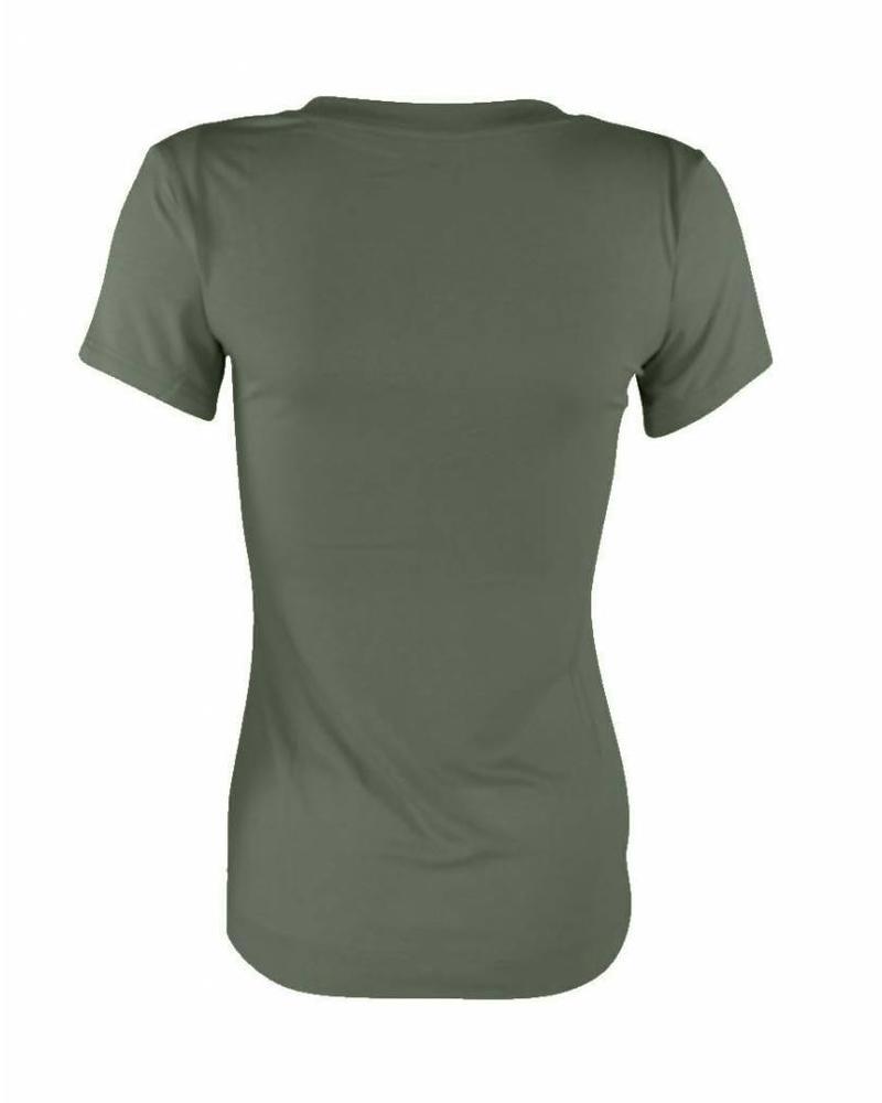 Longlady Shirt Tiny Khaki