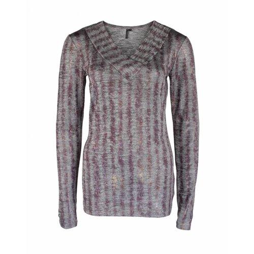 Longlady Longlady Shirt Tacy Purple dessin