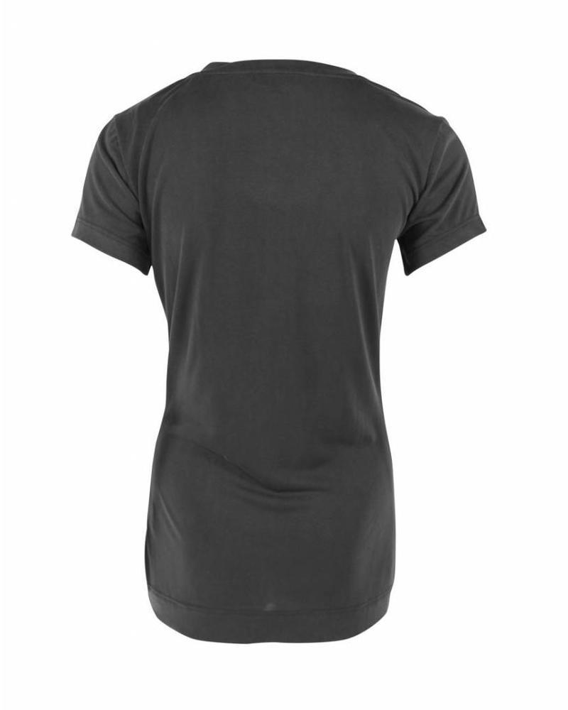 Longlady Shirt Tinie Zwart