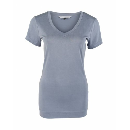 Longlady Longlady Shirt Tinie Lichtblauw
